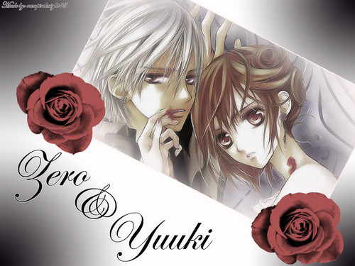 वेमपाइर नाइट वॉलपेपर possibly containing a bouquet and a rose entitled Vampire Knight