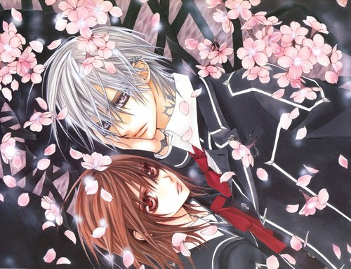 Vampire Knight karatasi la kupamba ukuta possibly with anime entitled Vampire Knight