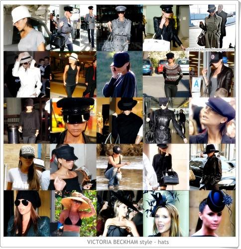 Victoria Beckham Style - hats