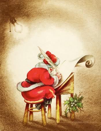 Vintage Weihnachten card