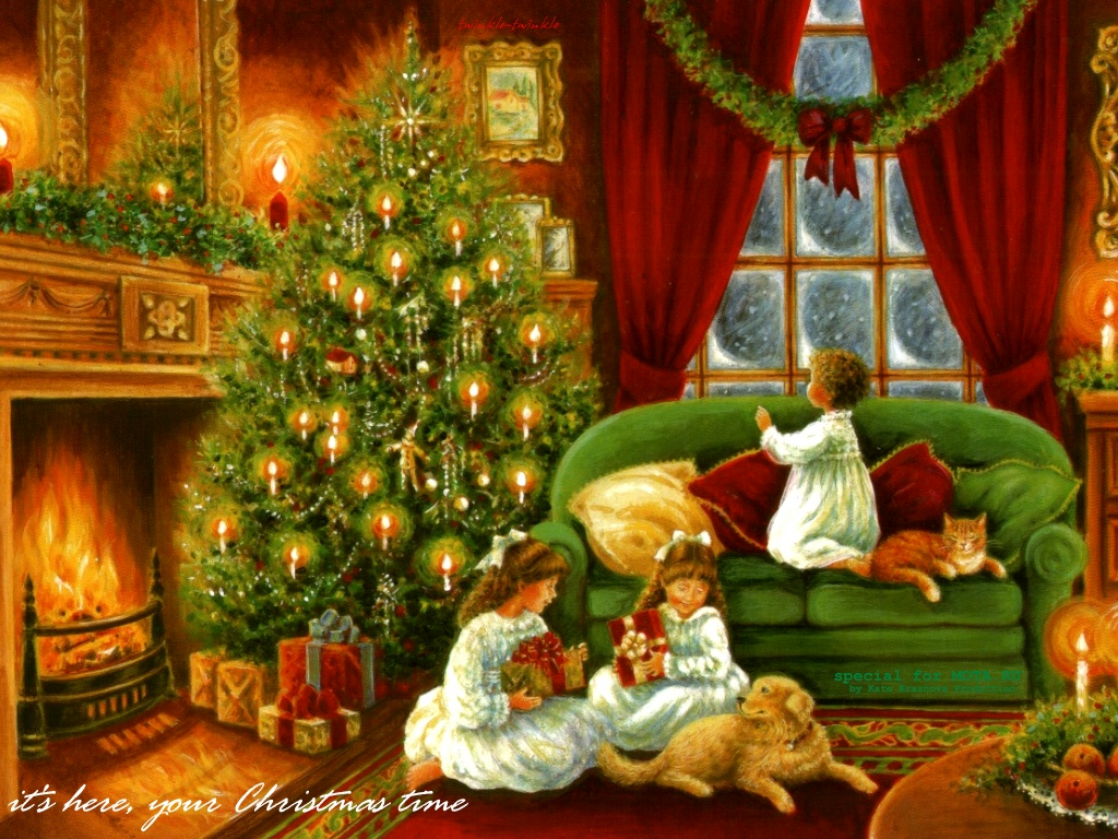 Vintage Christmas - Christmas Wallpaper (32837432) - Fanpop