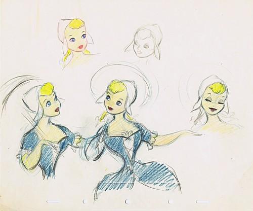 Walt Disney Sketches - Katrina وین Tassel