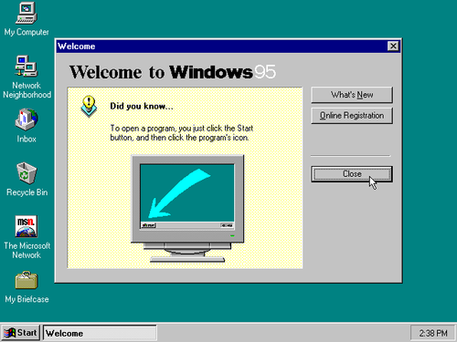 Windows 95 screenshot
