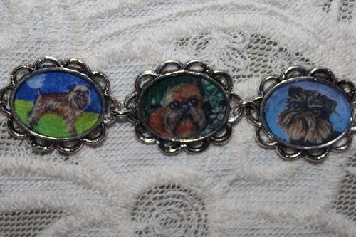 artisan Brussels Griffon bracelets