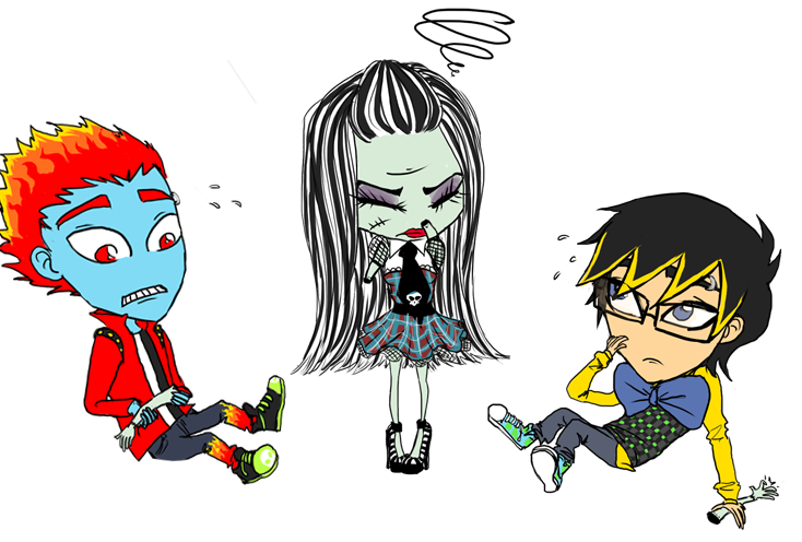pin chibi monster high colouring pages on pinterest