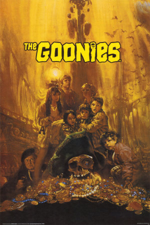 The Goonies দেওয়ালপত্র probably with a sign called goonies