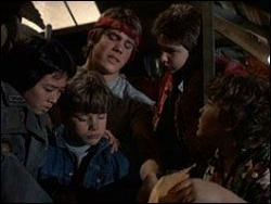 The Goonies দেওয়ালপত্র probably with a green টুপিবিশেষ and পরিচ্ছদে called goonies
