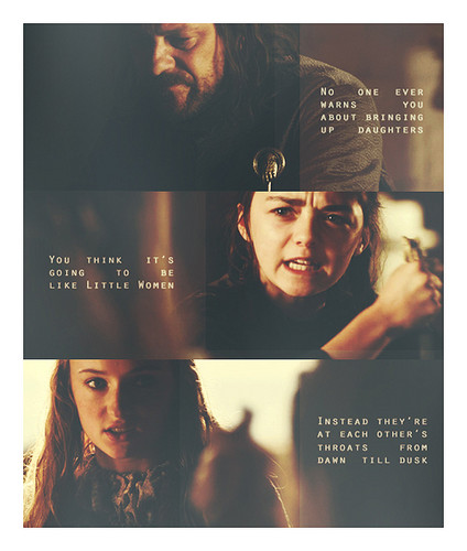 Ned, Sansa & Arya