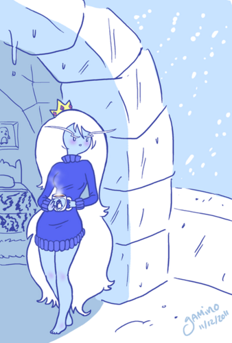 ice Queen in a sweater