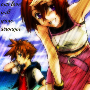 Kairi & Sora wallpaper with anime titled kairi our love will grow strong ~ sora