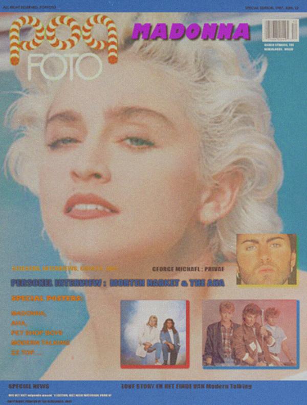 modern talking on magazine cover, poster inside