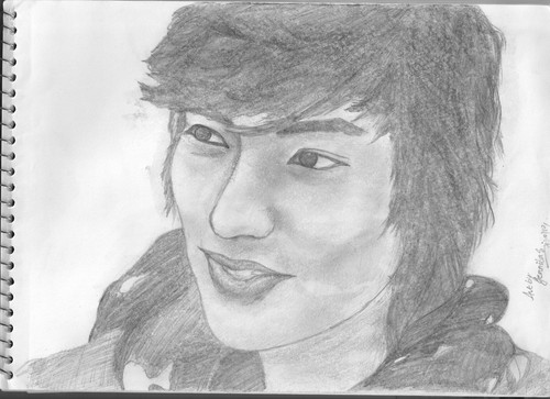 Lee Min Ho wallpaper titled my sketch of Lee Min Ho