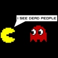 pac man sees dead people  - pac-man photo