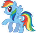 rainbow dash - my-little-pony fan art