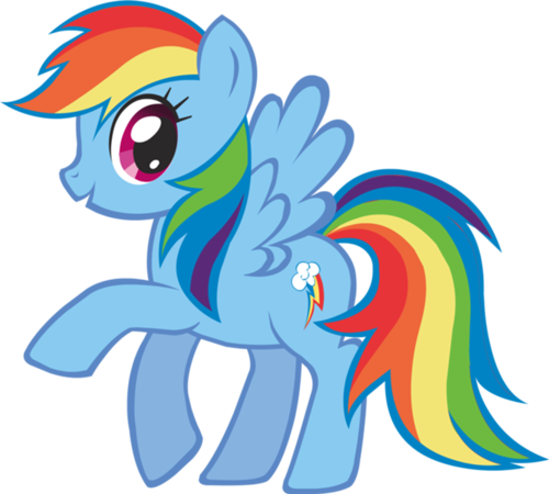 My Little pony Hintergrund called regenbogen dash