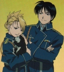 roy, riza, black hayate