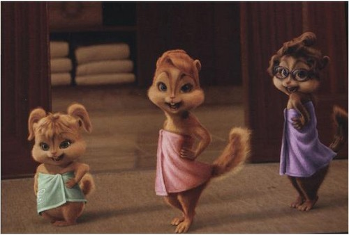 The Chipettes and Chipmunks wallpaper called whip my tail