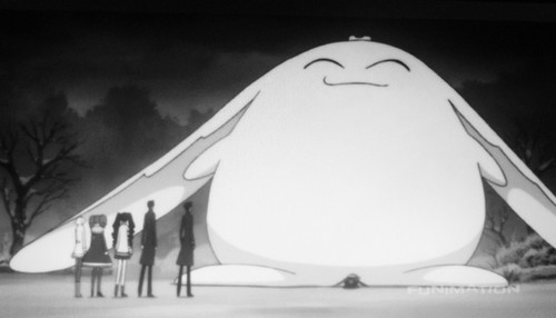 Giant Mokona Snowman au whatever he is.