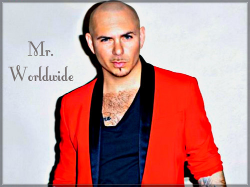Pitbull Rapper Wallpaper With A Portrait Titled
