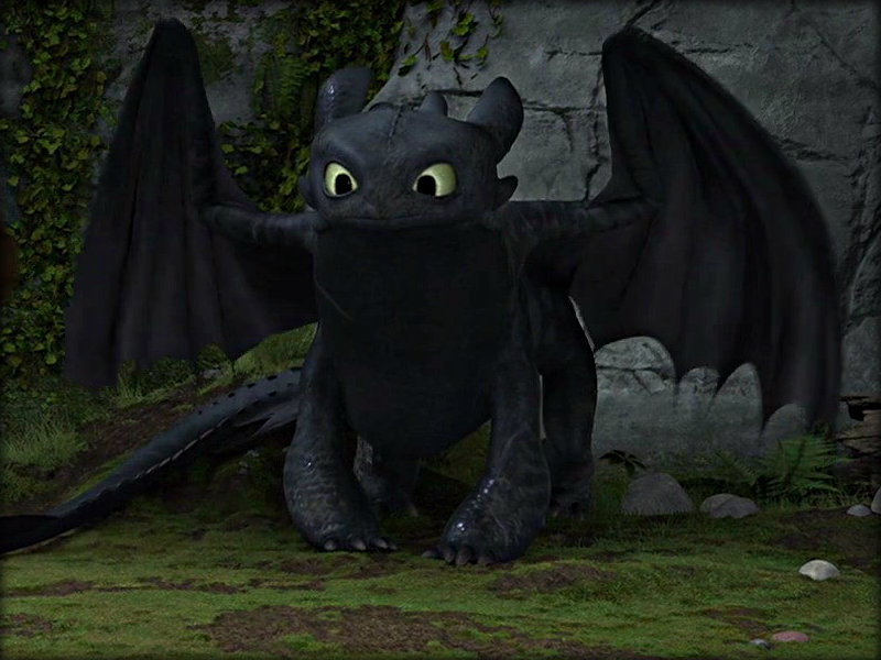 Toothless How To Train Your Dragon Sitting On