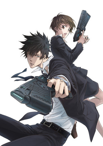 Psycho-Pass 壁紙 probably with a golf bag, a hip boot, and an outerwear called ^-^
