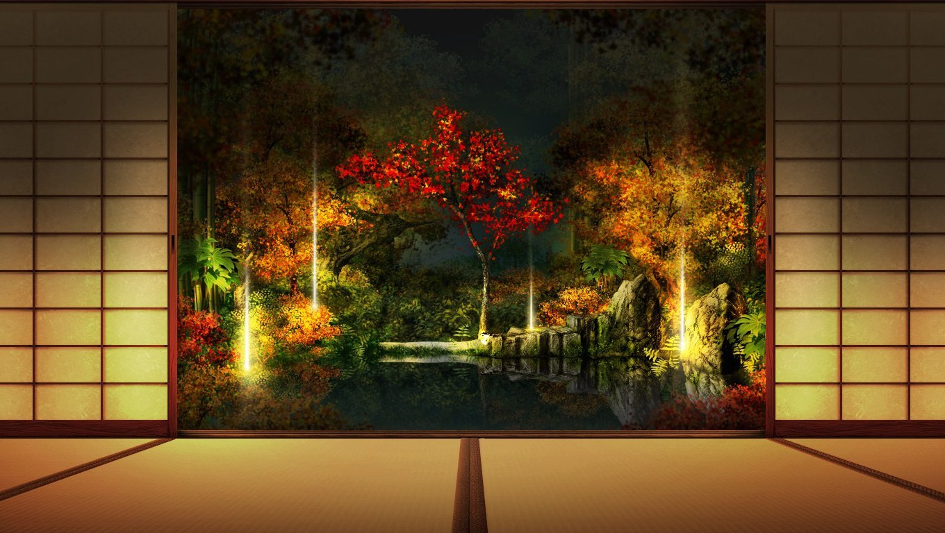 Top Wallpaper Night Japanese Garden - -the-red-curtain-32997088-1360-768  You Should Have-844943.jpg