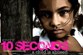 10 seconds thats 6 children a minute stop child abuse photo