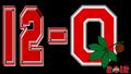 12-0 2012 OHIO STATE FOOTBALL