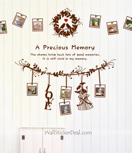 A Precious Memory photo Frame mur Decals