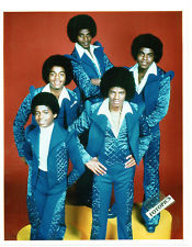 A Vintage Photograph Of The Jacksons Taken In The 1970's