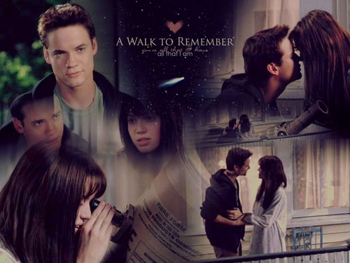 A Walk To Remember wallpaper probably containing a sign and a portrait titled A Walk