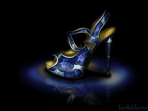 Alice inspired shoe