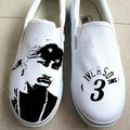Allen Iverson hand painted shoes