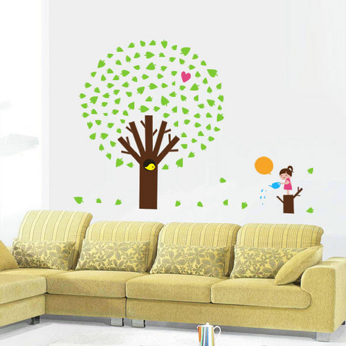яблоко дерево with girl Стена Sticker