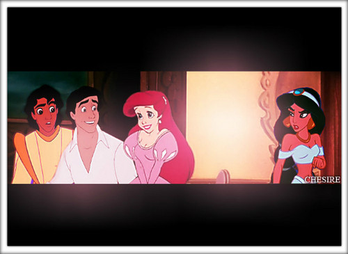 Aladdin and ariel wallpaper possibly with Anime titled Ariel/Aladdin