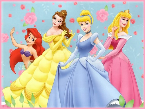 Walt Дисней Обои - Princess Ariel, Princess Belle, Princess Золушка & Princess Aurora