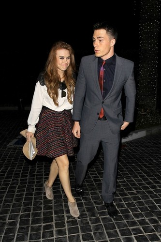 Arriving At Cecconi's Restaurant With Holland Roden