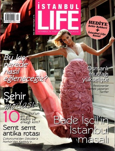 Bade Iscil on the cover of Istanbul Life magazine 2011