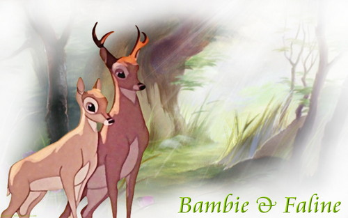 Bambi wallpaper possibly containing anime titled Bambi and Faline