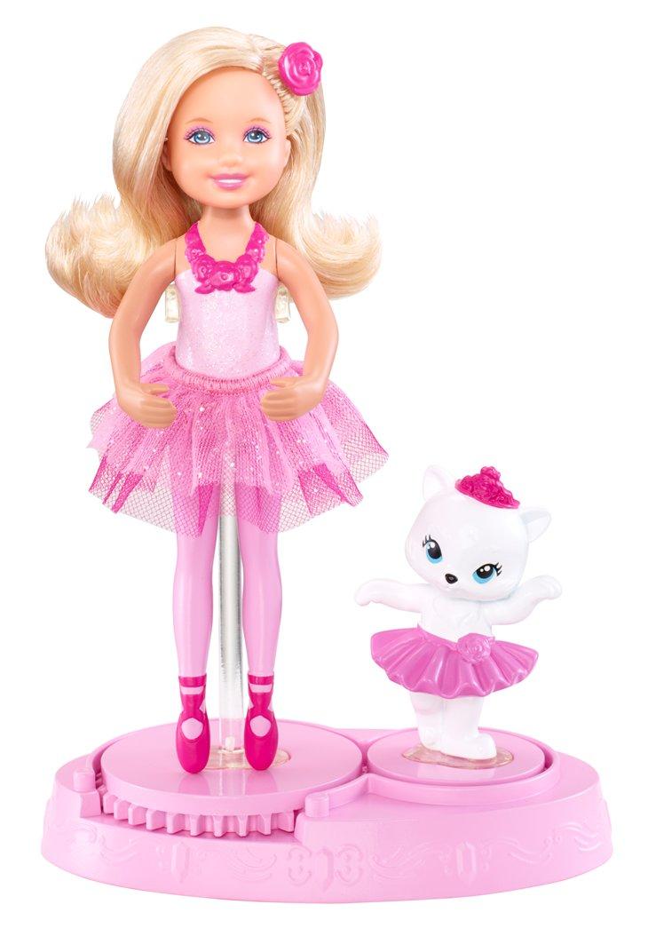Barbie in the گلابی shoes گلابی Chelsea Friend with kitten