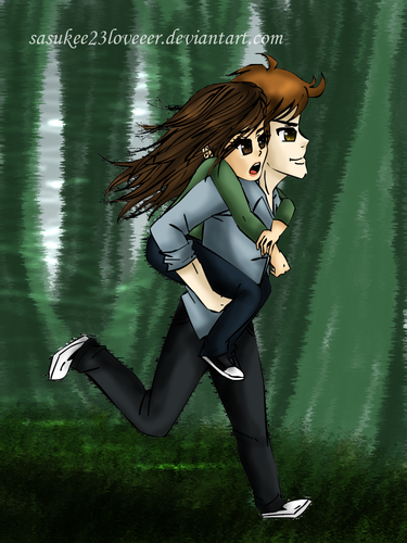 Bella Swan wallpaper possibly containing a hip boot titled Bella and Edward