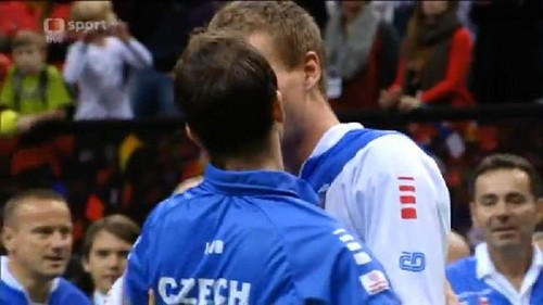 Berdych Stepanek kiss