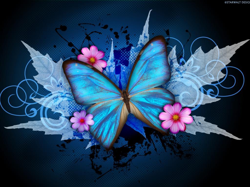 Blue papillon