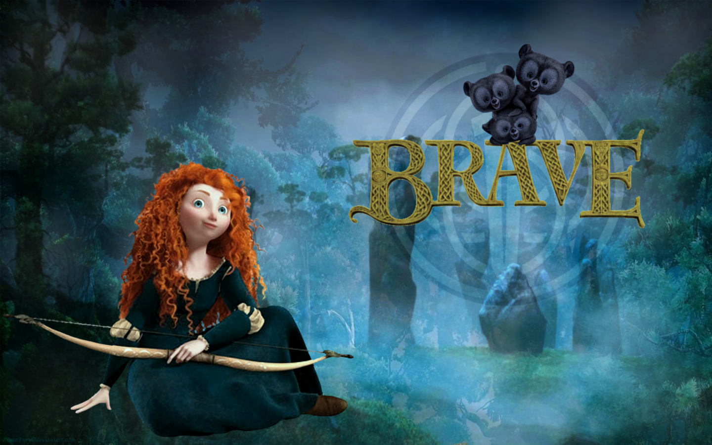 This is a graphic of Clean Pictures of Merida From Brave