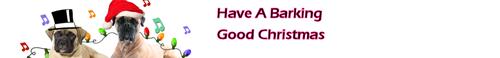 Bullmastiff Рождество Banner x