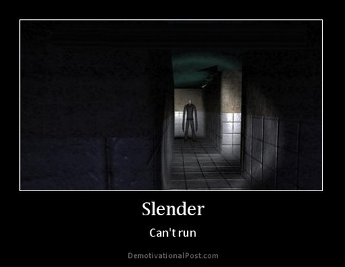 The Slender Man wallpaper titled Can't Run....