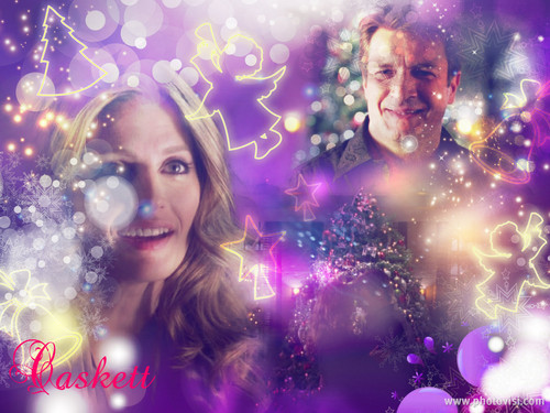Caskett natal wallpaper <3