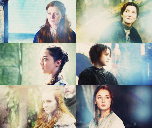 Catelyn, Arya,&Sansa