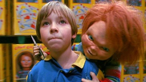 Andy Barclay wallpaper possibly containing a newsstand called Chucky + Andy