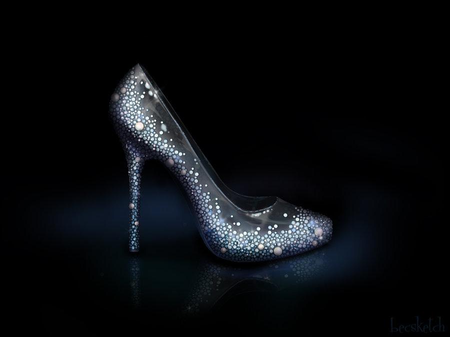 cinderella inspired shoe disney princess fan art